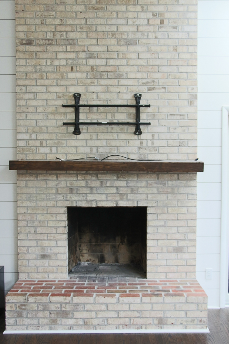 Lime Wash Brick Fireplace How To Whitewash Your Brick Fireplace With Milk Paint The