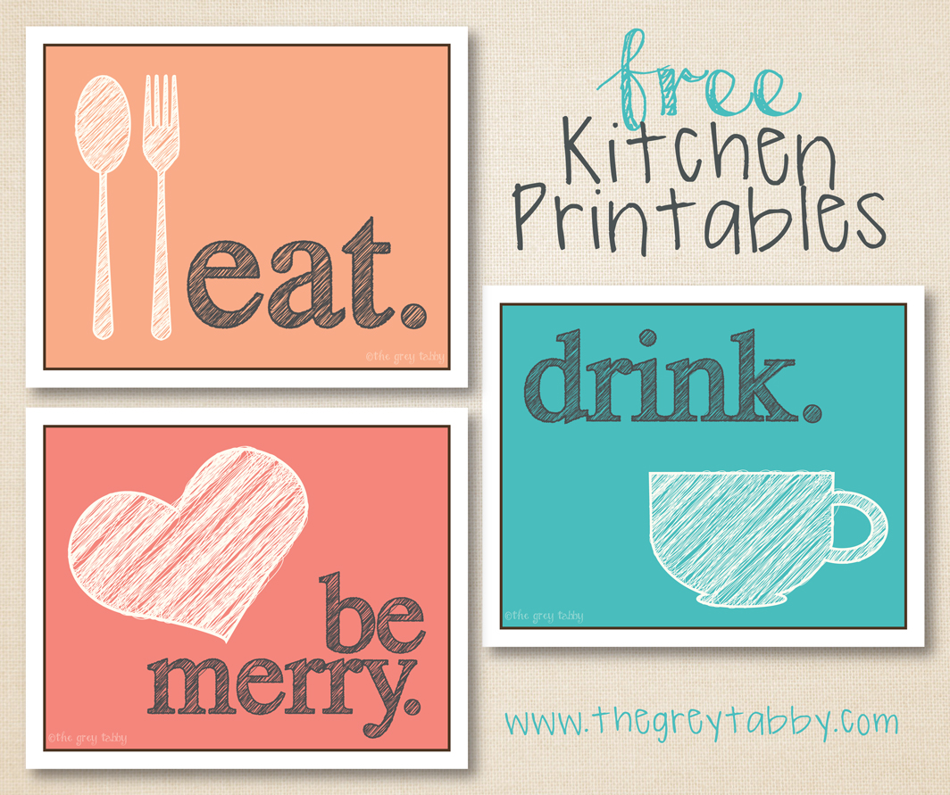 Free Kitchen Design Quotes Free Kitchen Printables Eat Drink And Be Merry The