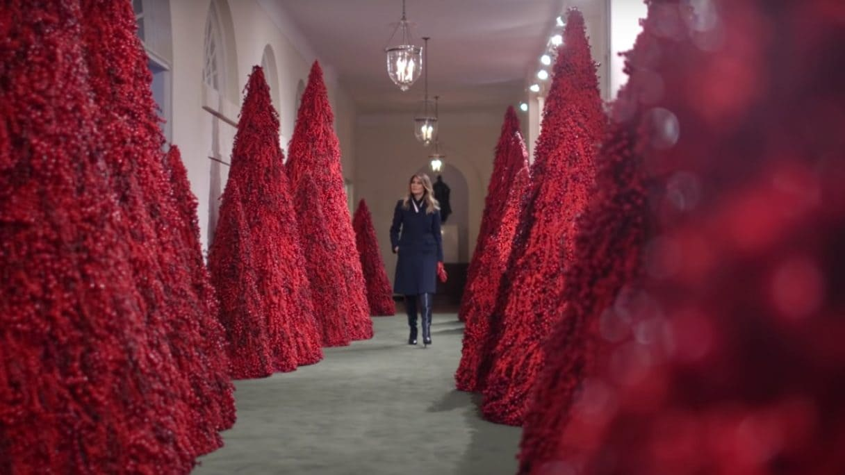 Best Place For Christmas Decorations Best Tweets About Melania Trump S Horrifying Christmas Decor At