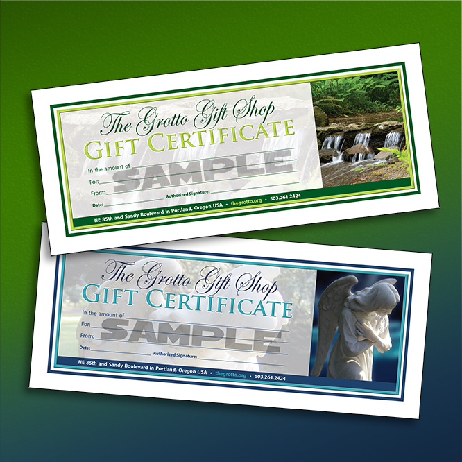 Gift Certificate The National Sanctuary of Our Sorrowful Mother