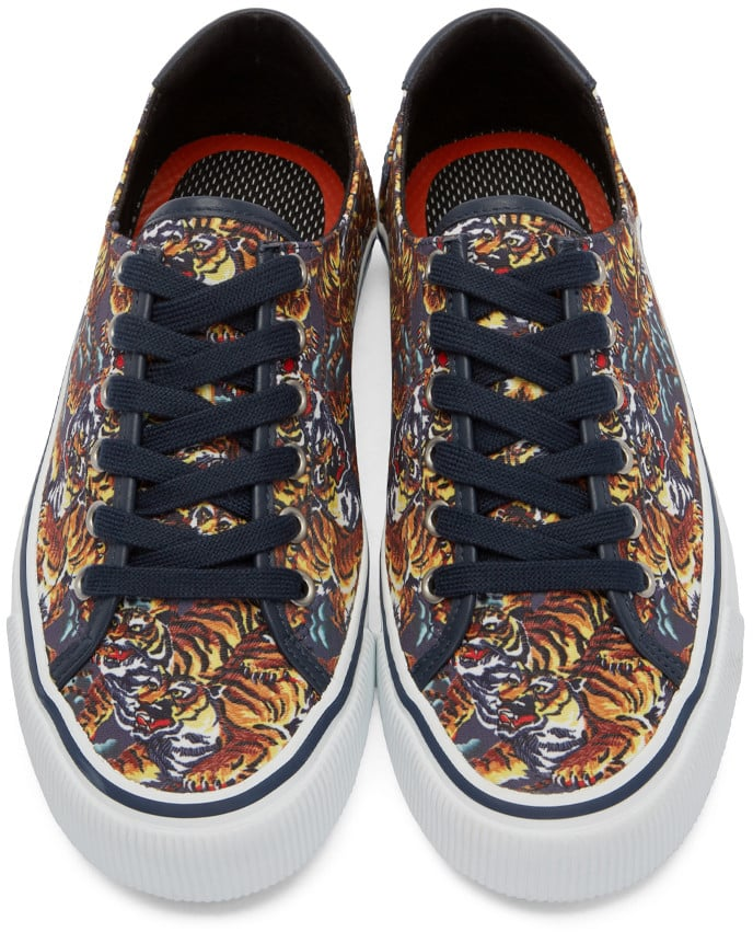 Cool gift ideas for men Kenzo Navy Flying Tiger Sneakers Top | The Guy Blog