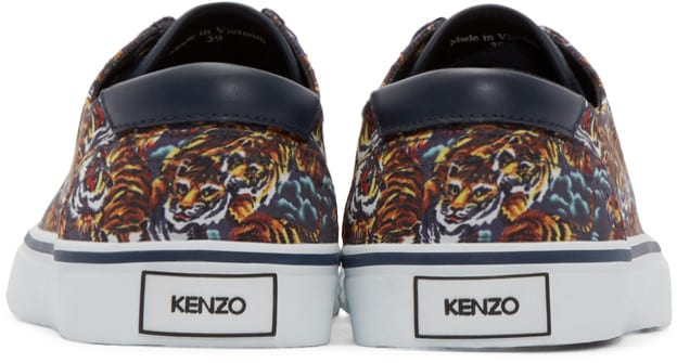 Cool gift ideas for men Kenzo Navy Flying Tiger Sneakers back | The Guy Blog