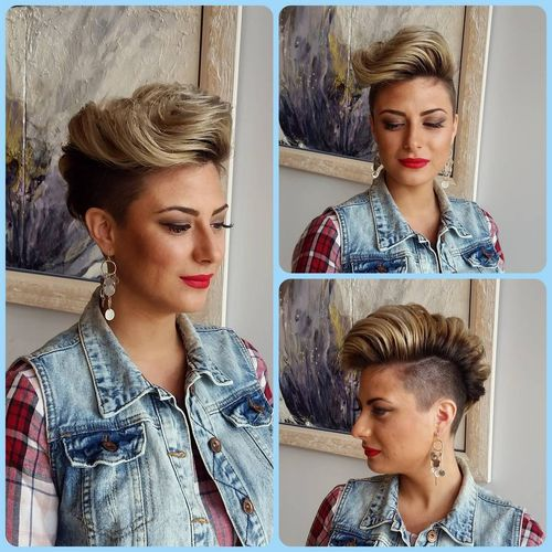 Stylish Curved White Mohawk