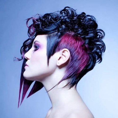 Extreme Black Pixie with Curls