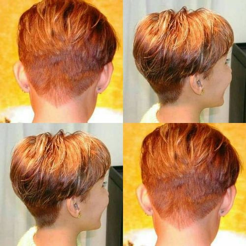 elegant pixie haircut copper red