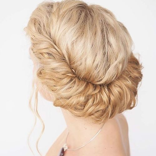 Blonde Greek Updo Hairstyle Exquisite Homecoming