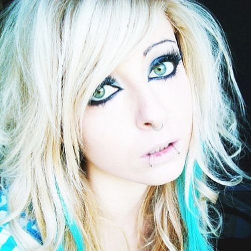 Blond emo hairstyles for girls