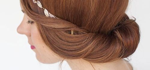 60 easy updos for medium length hair brow ngreek updo hairstyle pmusecretfo Choice Image