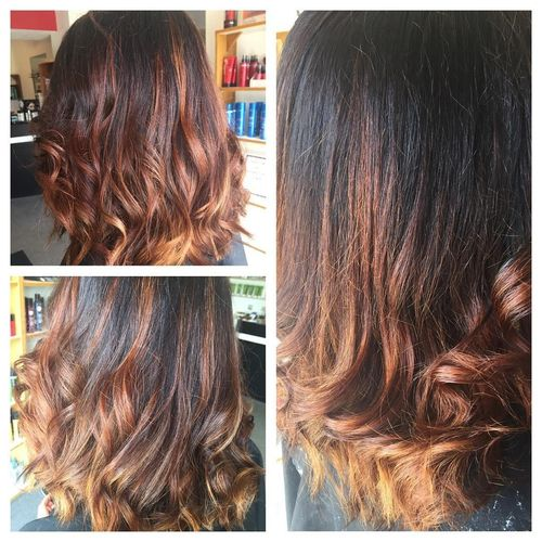 Wonderful dark brown ombre