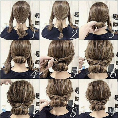 Easy Updos For Medium Length Hair - Hairstyle updos step by step