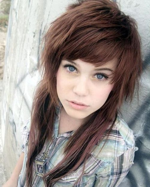 Emo hairstyles for girls top 10 ideas brown shaggy emo hairstyles for girls urmus Choice Image
