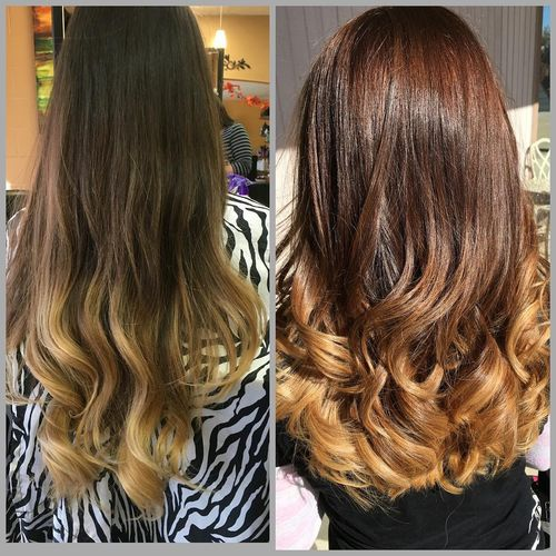 Lovely light brown ombre