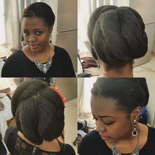 Natural Hair Updos for Medium Length Hair