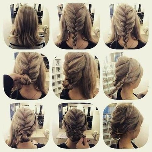 60 easy updos for medium length hair diy updos for medium hair french braid hairstyle pmusecretfo Choice Image