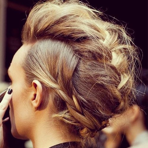 Soft french braid hairstyle