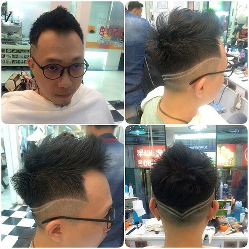 Asian Mohawk with Design