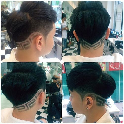 Asian Men Hairstyle with Horizontal Parting