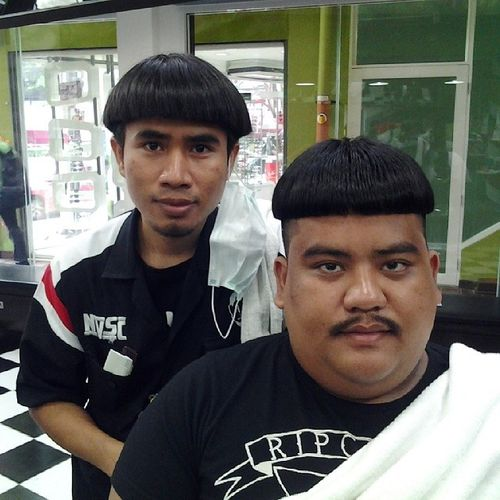 Asian Bowl Hairstyle