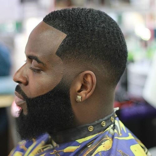 80 trendy black men hairstyles and haircuts in 2017 buzz cut with beard winobraniefo Image collections