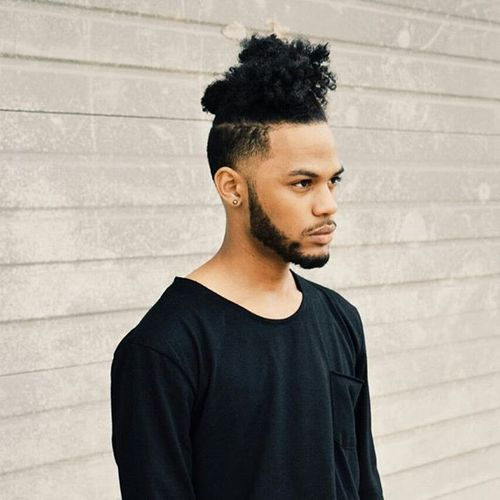 80 trendy black men hairstyles and haircuts in 2017 messy knot of curls winobraniefo Image collections