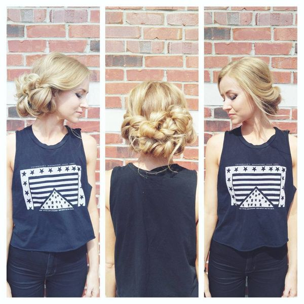 Blonde twists