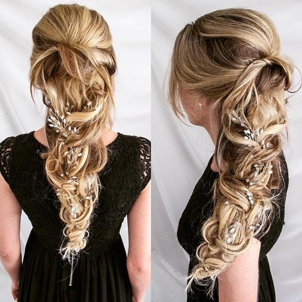 Careless Braided Ponytail with Jewelry Accessory