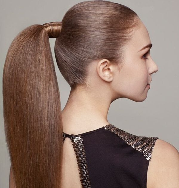 Smooth and sleek in a ponytail