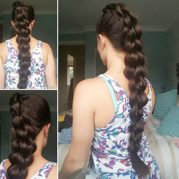 Four strands pull through braid inspired