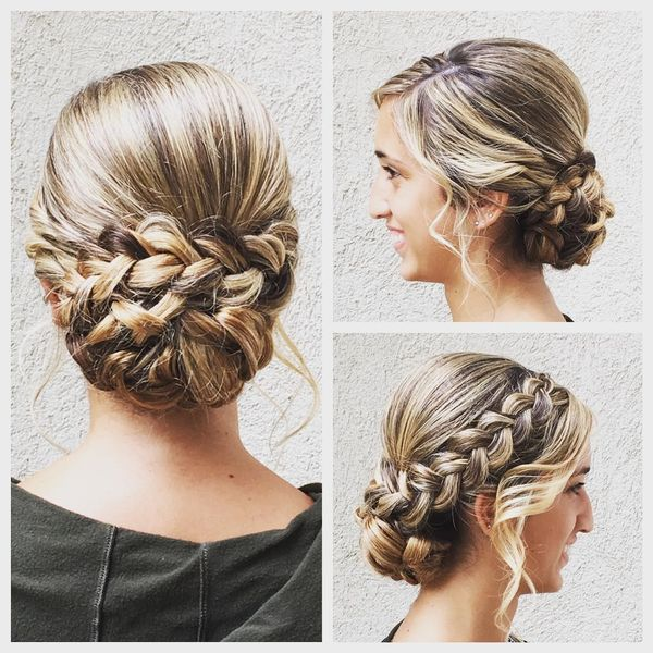 Dutch braid and classic roll