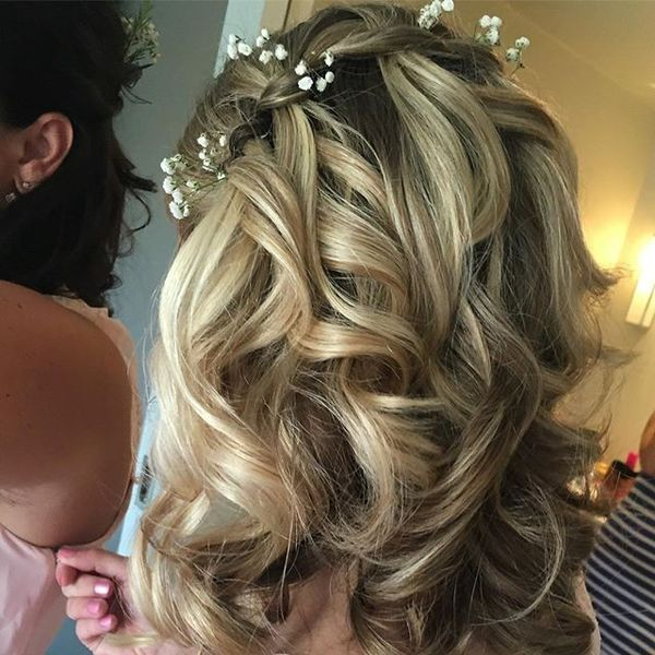 Waterfall Curls with Floral Details