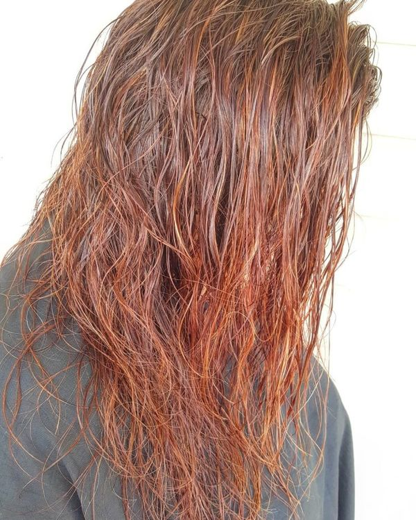 Wet-Look Messy Loose Hairstyle