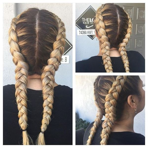 Funny Dyed Boxer Braids Summer Look