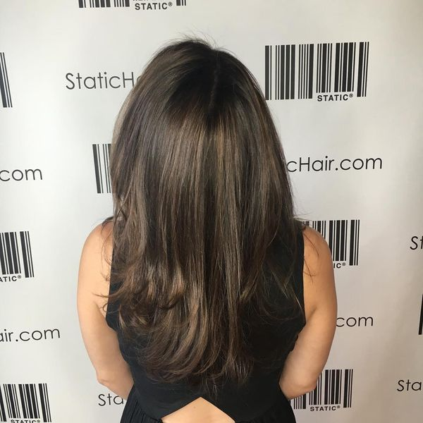 Rich Chocolate Brunette Cascading Hair