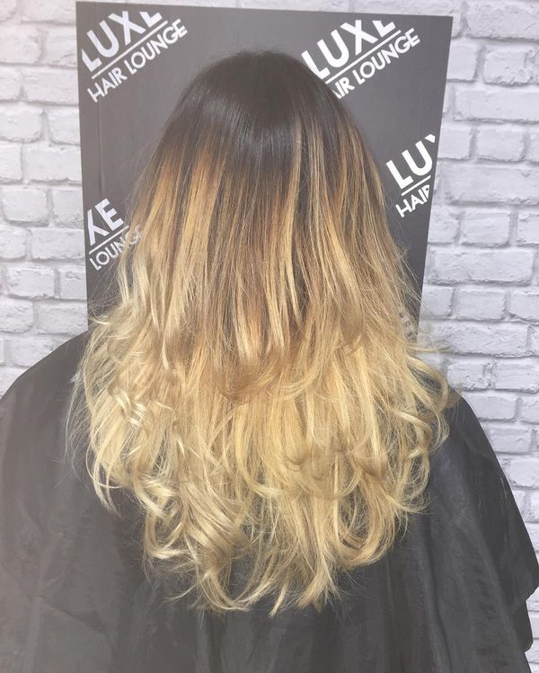 Three-Layered Balayage Hairstyle