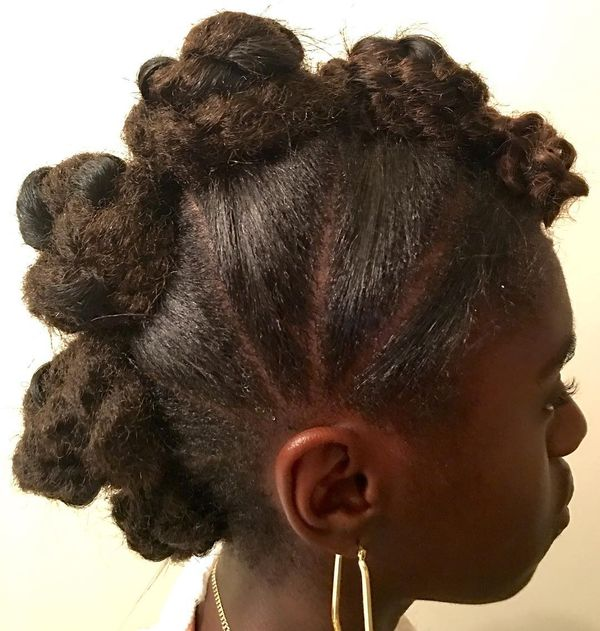 Trendy Bantu Knots for Schoolgirl on Crochet Hair