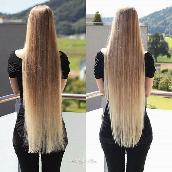 U-Shape Rapunzel Blonde Hair
