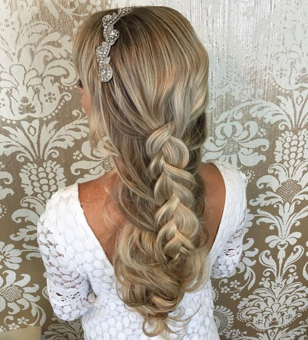 Braided Bridal Down-Do