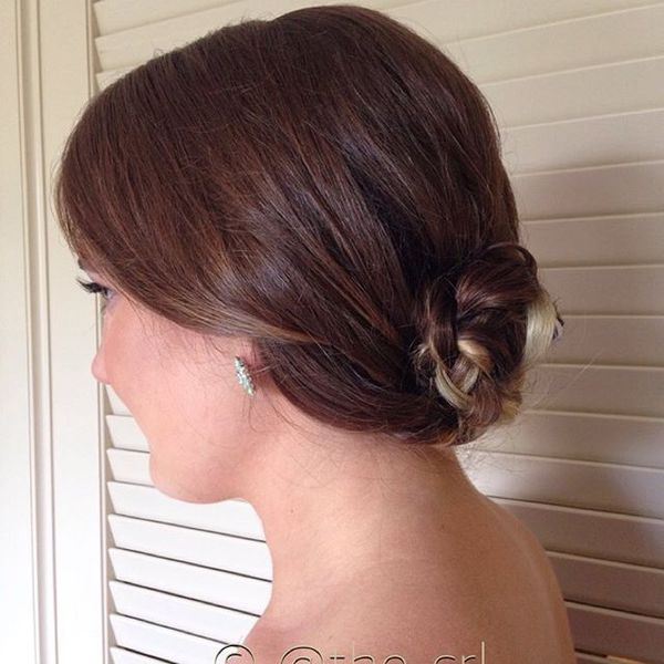 Tiny but Elegant Braided Chignon