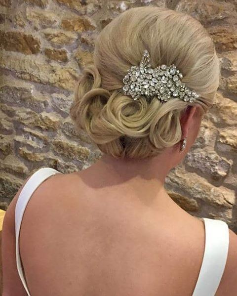 Chick Updo with Handmade Headpiece