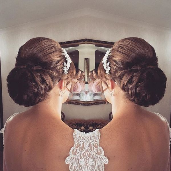 Slicked Back Braided Bun
