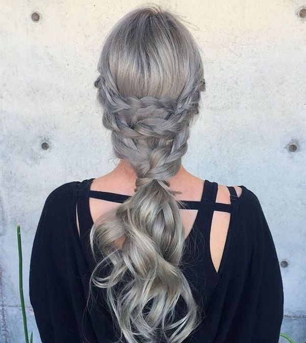 Triple Braided Silver Pony