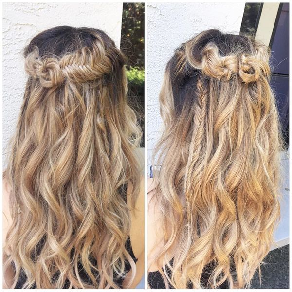 Adorable waves with braids and the bow