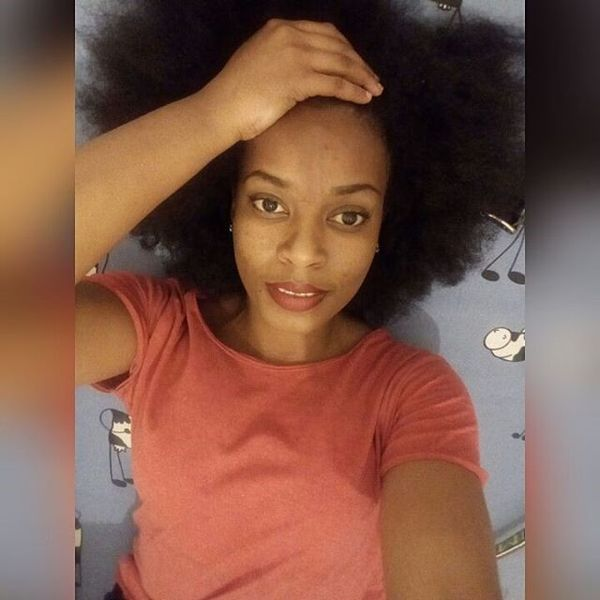 An extremely lush Afro hairstyle