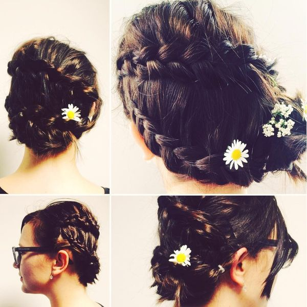 Bonny braids with daisies