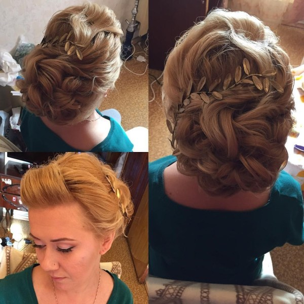 Bridal braided updo