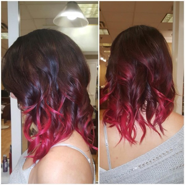 Burgundy hair with dark red purple and brown highlights dark burgundy shoulder length ombre pmusecretfo Gallery