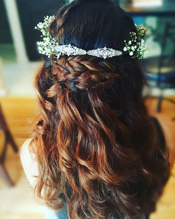 Floral wreath and a waterfall