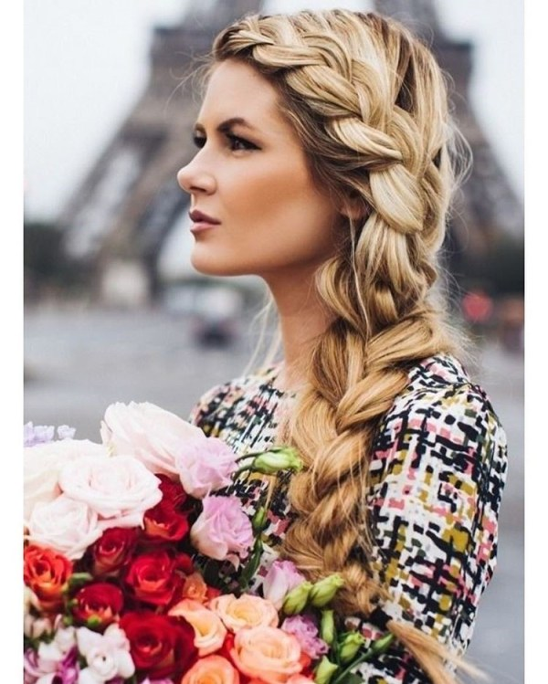 One-sided Dutch braid