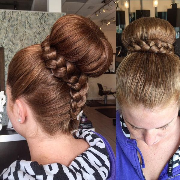 Out-of-the-way prom hairdo