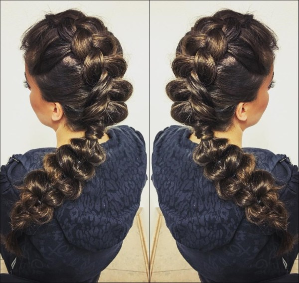 Polished divided braid
